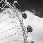 London Eye Pods in Monochrome by Graham Prentice