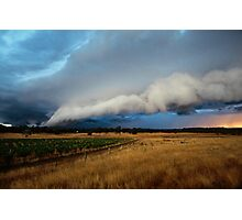 gustfront on the grapevine - central ranges, Vic Photographic Print
