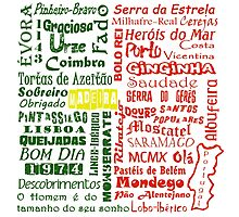 Country Word Mosaic - Portugal Photographic Print