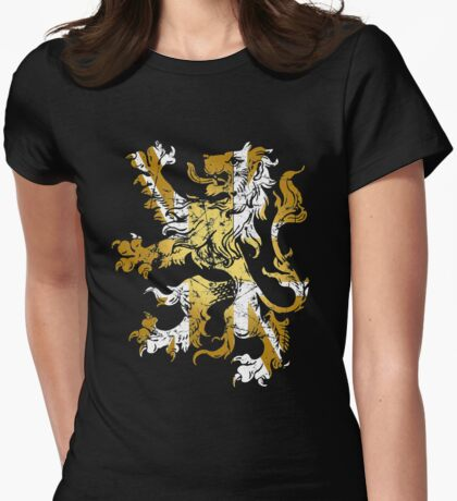 British Rampant Lion - Vintage Gold Womens Fitted T-Shirt