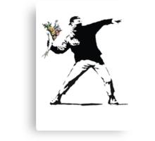 Banksy - Flower Thrower Canvas Print