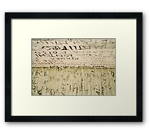 Mt Cameroon - typography Framed Print