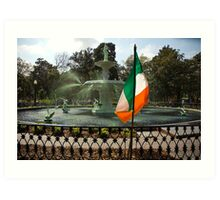 The Greening Of The Fountain 2007 Art Print