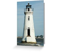 The Cockspur Lighthouse Greeting Card