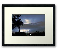 Lightning on the Horizon over Sydney 4 Strikes Framed Print