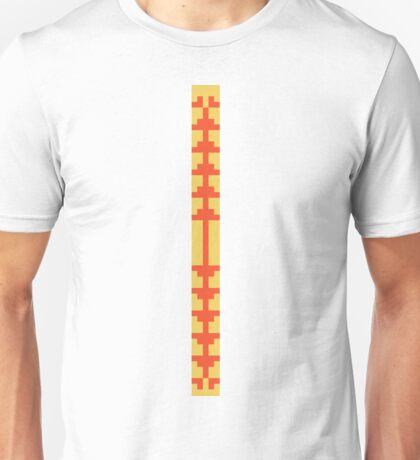 Flame and Primrose Yellow Art Deco Unisex T-Shirt