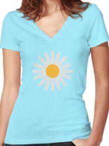 Daisy flower Women's Fitted V-Neck T-Shirt