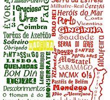 Country Word Mosaic - Portugal by KangarooIsland