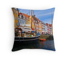 Little Houses All in a Row Throw Pillow