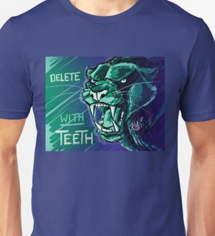 Delete With Teeth - Black Panther Snarl Unisex T-Shirt