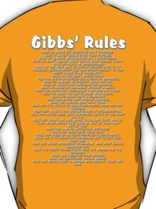 Gibbs' Rules - White Version T-Shirt