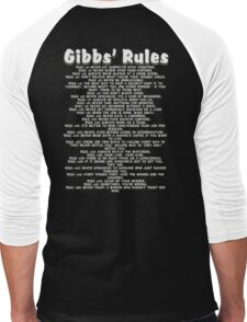 Gibbs' Rules - White Version Men's Baseball ¾ T-Shirt