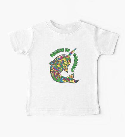 Narwhal Believes in You Baby Tee