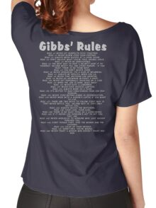 Gibbs' Rules - Grey Version Women's Relaxed Fit T-Shirt