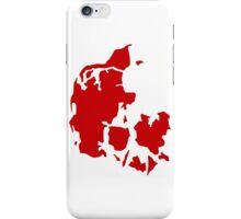 Denmark map iPhone Case/Skin