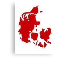 Denmark map Canvas Print
