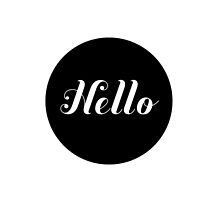 Hello text by AnnaGo