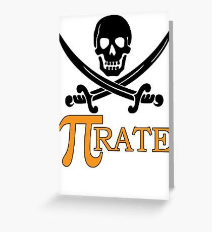 Pi-rate Greeting Card