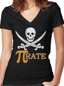 Pi-rate Women's Fitted V-Neck T-Shirt