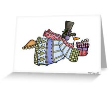flying snowman Greeting Card