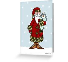 Santa and snow baby Greeting Card