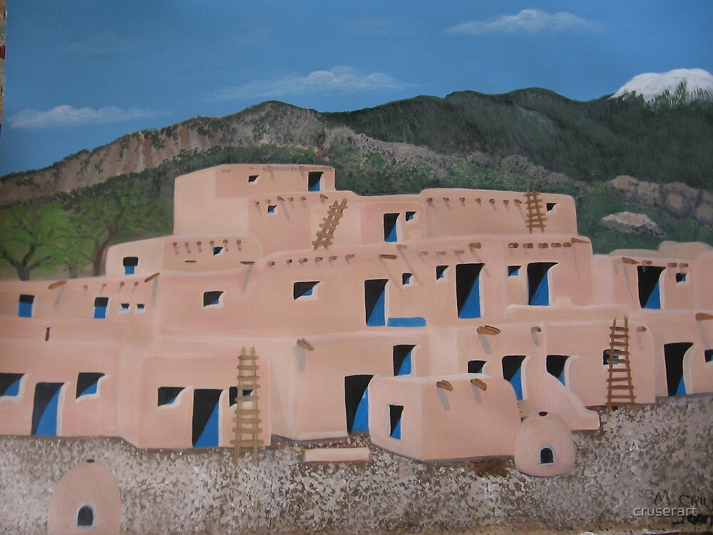 Taos Pueblo by cruserart