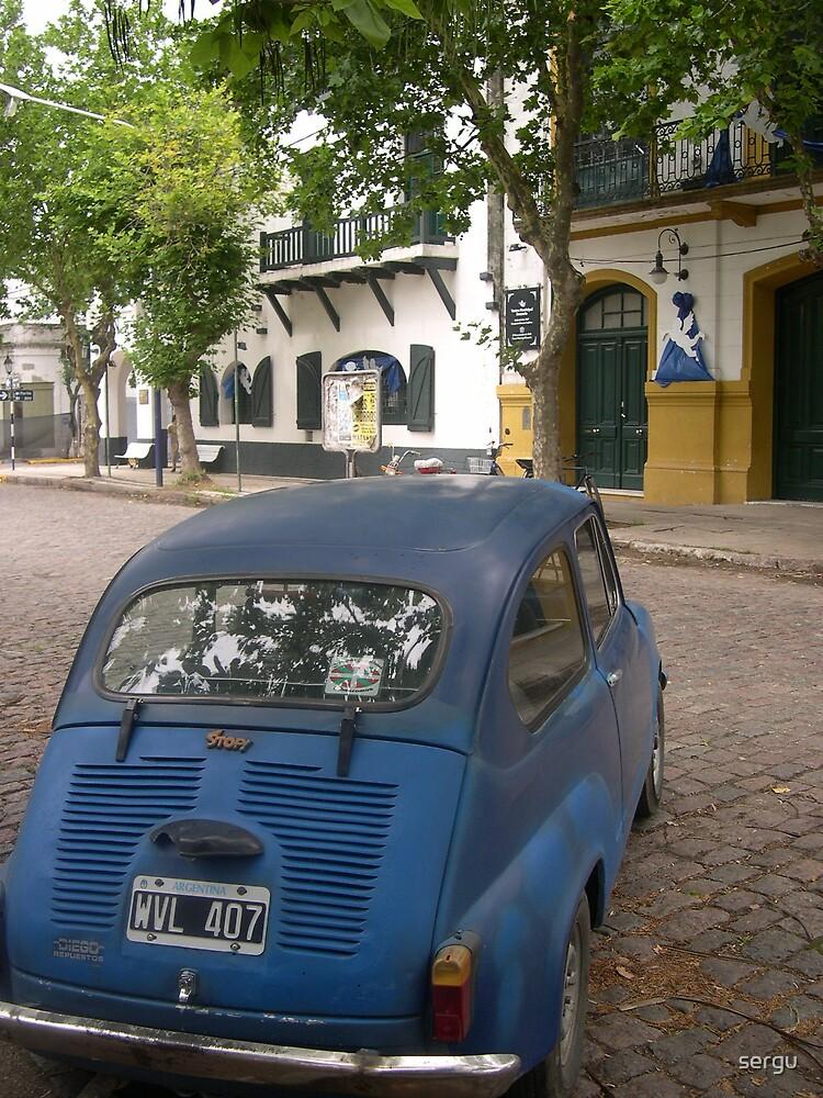 fiat 600 blue by sergu