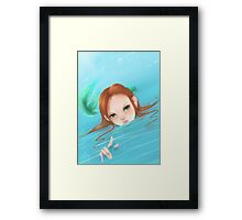 Come to the depths with me Framed Print