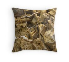 Exciting Formation, enlarged view from inside an old rock Throw Pillow