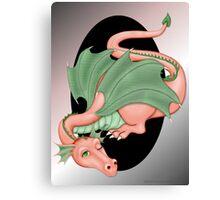 Coral Dragon Resting Canvas Print