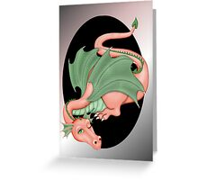 Coral Dragon Resting Greeting Card