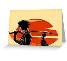 Samurai Champloo Greeting Card
