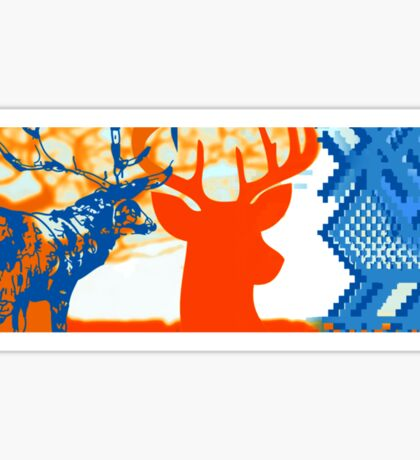The deer in the forest Sticker