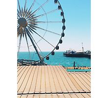 Brighton Wheel and Pier Close Up Photographic Print