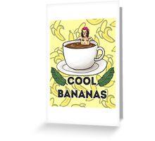 cool bananas Greeting Card