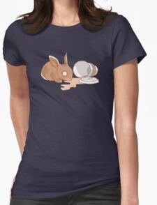 Coffy Rabbit Womens Fitted T-Shirt