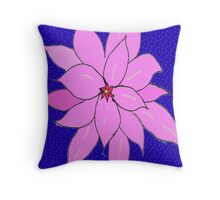 Dabak imaginary flower Throw Pillow