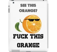 orange iPad Case/Skin