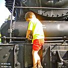 Austyn on the Steam Engine at the Museum of Science and Technology by Shulie1