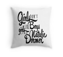 Girls Like Natalie Dormer Throw Pillow