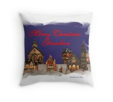 Merry Christmas Grandson Throw Pillow