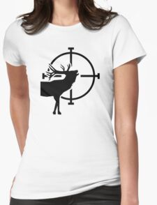 Deer crosshairs Womens Fitted T-Shirt