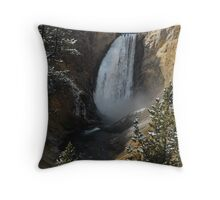 Yellowstone Falls first snowfall Throw Pillow