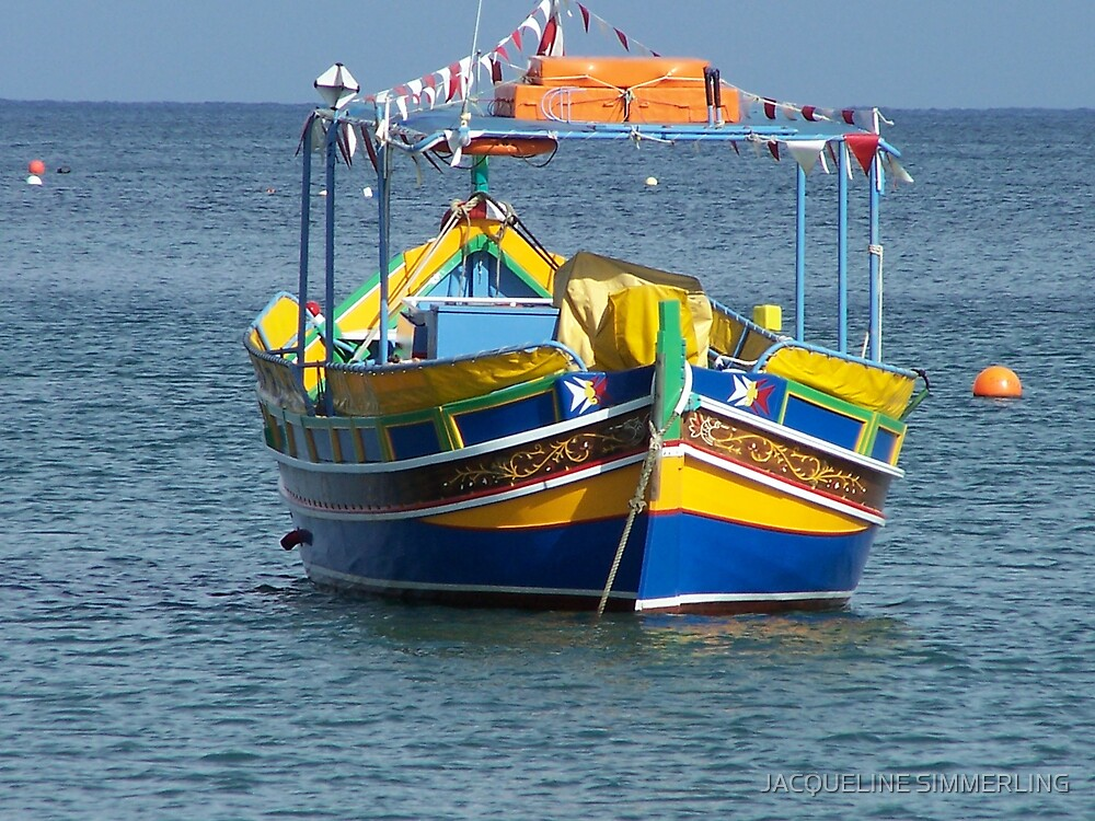 malta boat by JACQUELINE SIMMERLING
