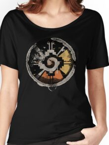 Good Vibes! Birds Flying in Abstract Sunset!!! Women's Relaxed Fit T-Shirt