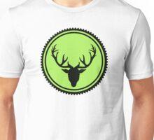 Deer green button Unisex T-Shirt