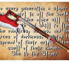 Buffy Slayer Scythe by BovaArt