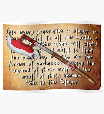 Buffy Slayer Scythe Poster