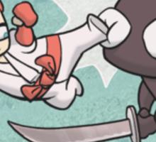 White Ninja Wins Sticker