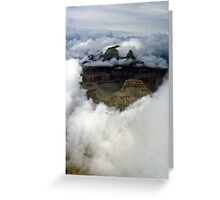 A look through the clouds Greeting Card